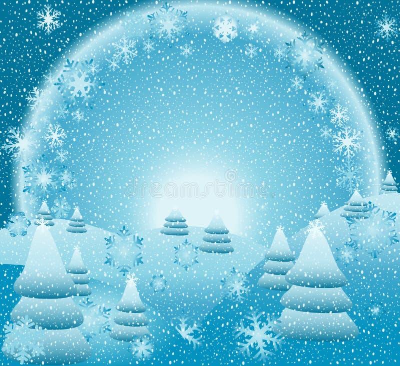 Download Winter landscape stock vector. Image of winter, celebrate - 3438452