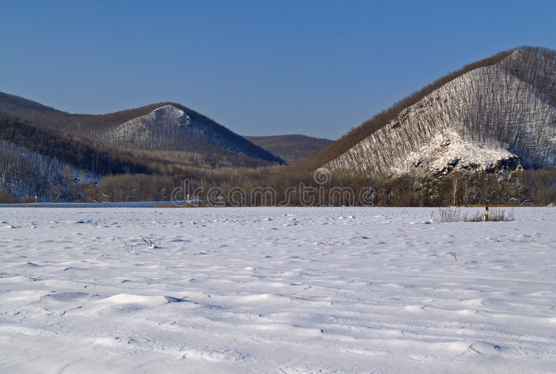 Download Winter landscape stock image. Image of blue, nature, december - 7544067