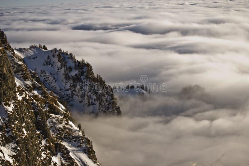 Winter landscape. In Bucegi mountain range royalty free stock photos