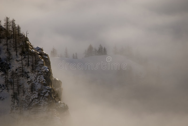 Winter landscape. In Bucegi mountain range stock images