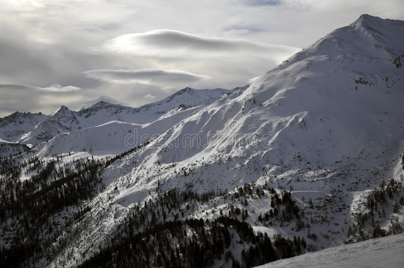 Download Winter Landscape In The Alps Stock Photo - Image: 24375202