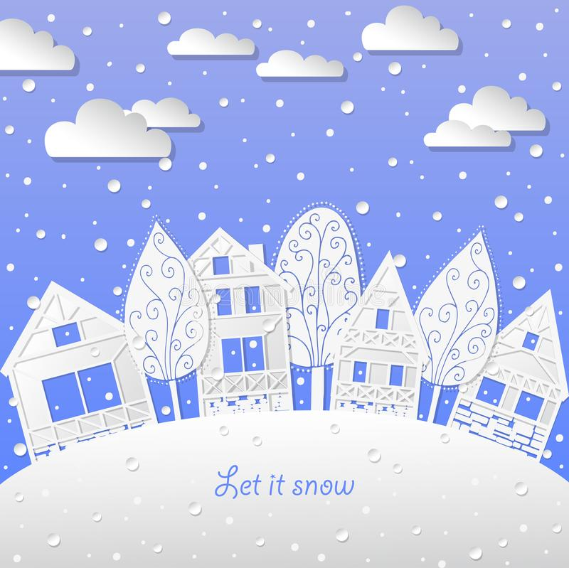 Winter landscape background let it snow royalty free stock photo