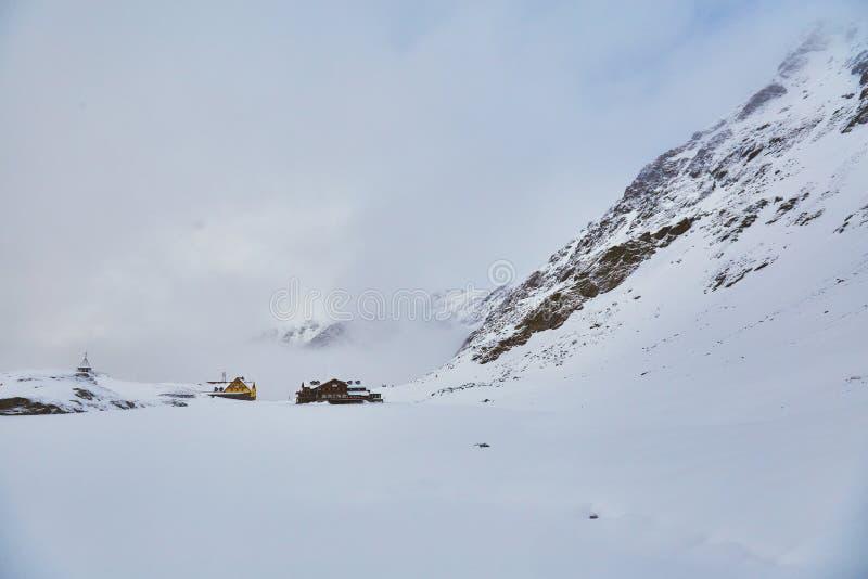 Winter landscape at Balea Lac. Winter landscape in Fagaras mountains at Balea Lac, Transylvania, Romania stock image