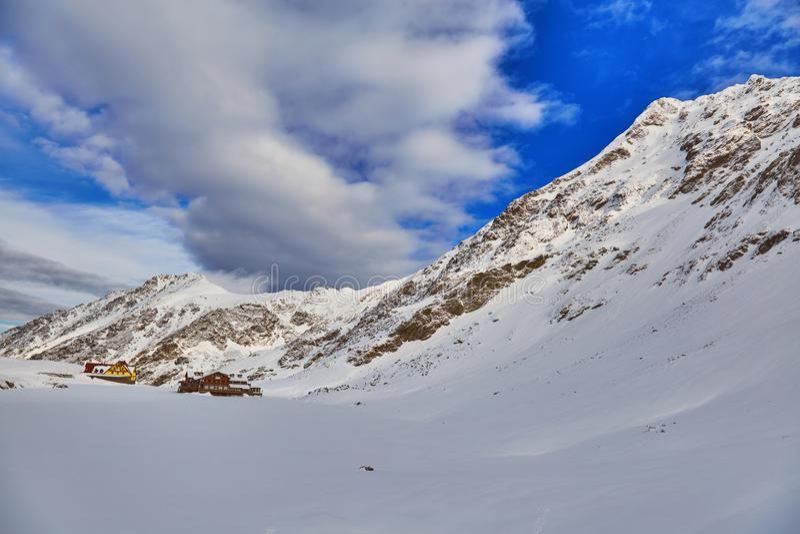 Winter landscape at Balea Lac. Winter landscape in Fagaras mountains at Balea Lac, Transylvania, Romania stock photo