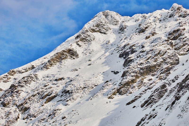 Winter landscape at Balea Lac. Winter landscape in Fagaras mountains at Balea Lac, Transylvania, Romania stock images