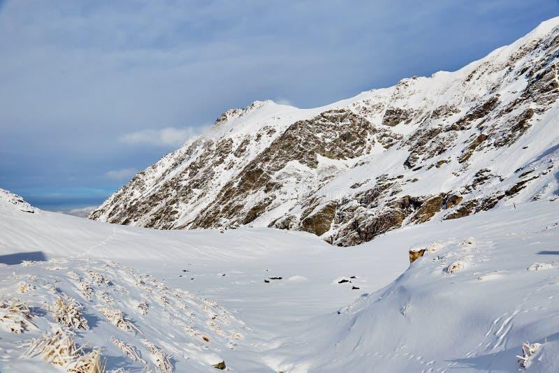 Winter landscape at Balea Lac. Winter landscape in Fagaras mountains at Balea Lac, Transylvania, Romania stock photography