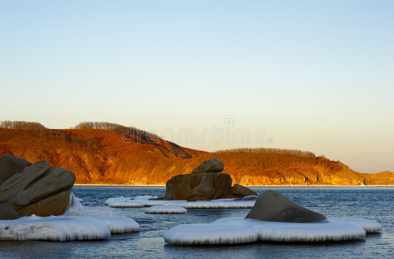 Winter Landscape Of A Bay Of Vladimir-6 Royalty Free Stock Photo