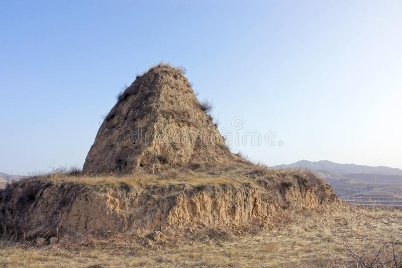 Beacon Tower. The winter landscape of the Beacon Tower of North China royalty free stock image