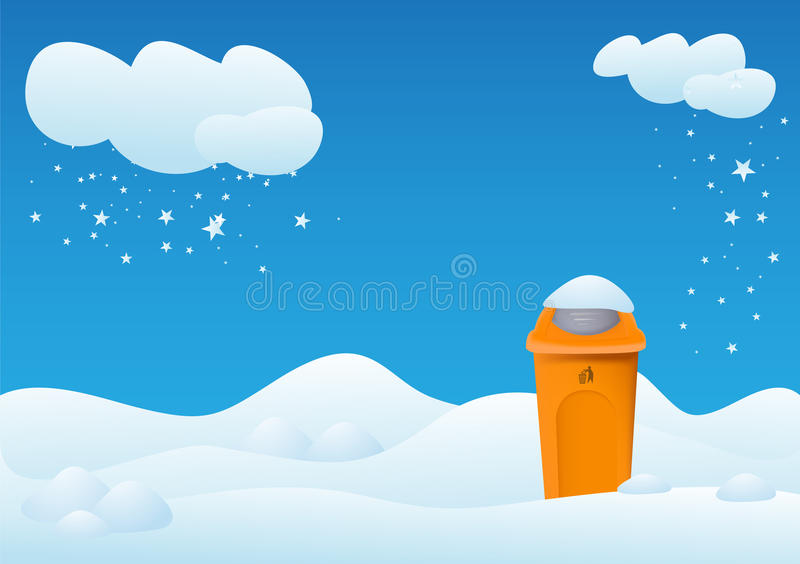 Download Winter landscape with bin stock illustration. Image of free - 20983850