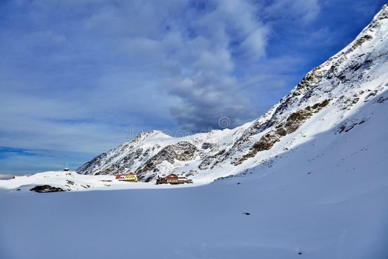 Winter landscape at Balea Lac. Winter landscape in Fagaras mountains at Balea Lac, Transylvania, Romania stock photos