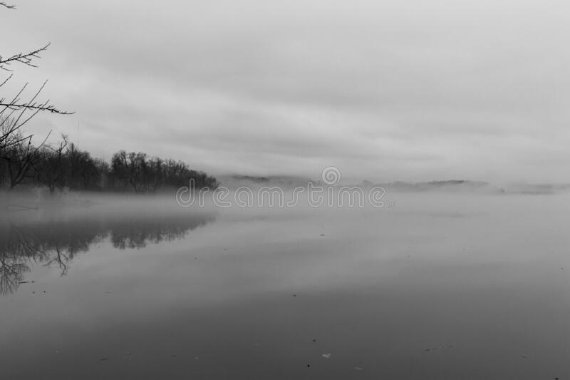 Winter Landscape on a Foggy Day royalty free stock photo
