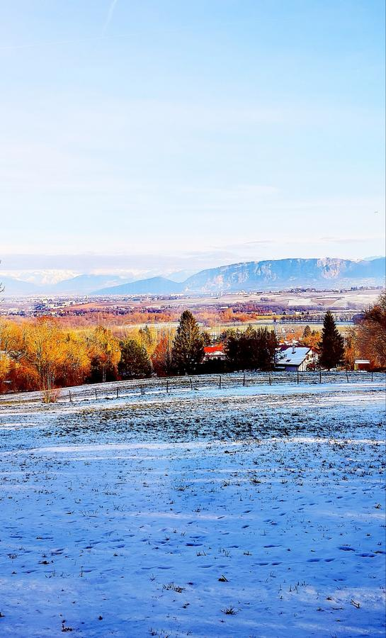Winter landscape in France royalty free stock photography