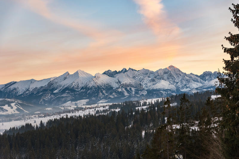 Winter landscape of High Tatra Mountains royalty free stock photos