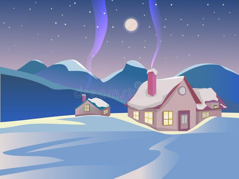 Winter landscape. stock illustration