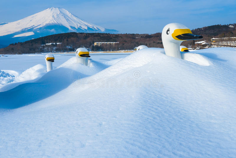 Winter Landscape in Japan royalty free stock photos