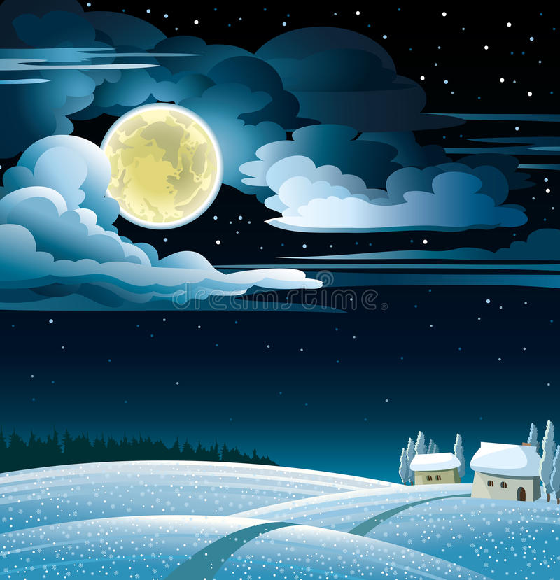 Download Winter landscape. stock illustration. Image of light - 34371333