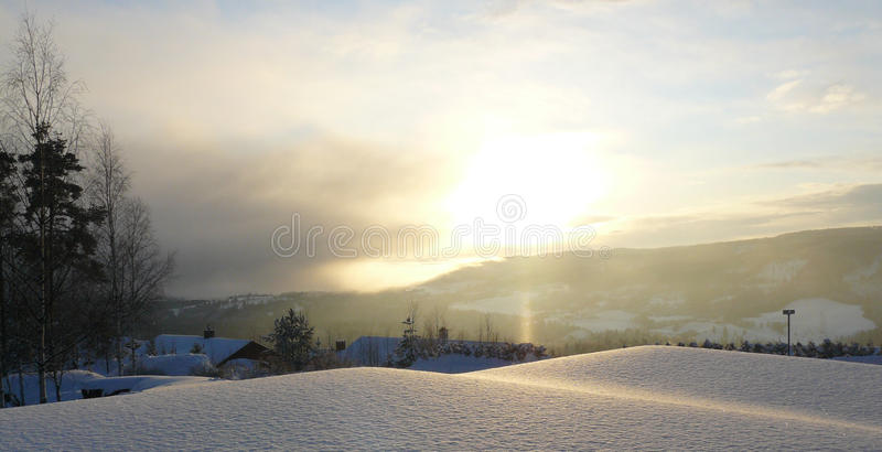 Winter landscape, Norway royalty free stock images