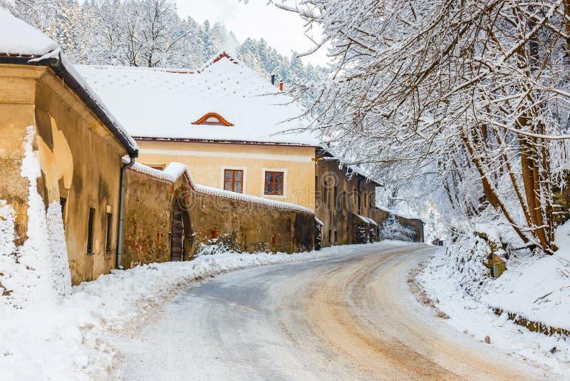 Winter Landscape In Pieniny Mountains. Poland royalty free stock photos