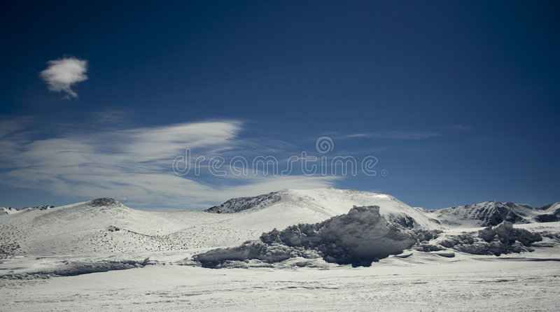 Winter landscape-RILA royalty free stock photos