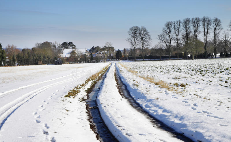 Winter landscape in rural england royalty free stock images