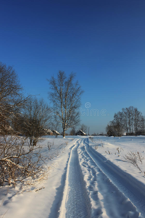 Winter landscape, Russia stock images