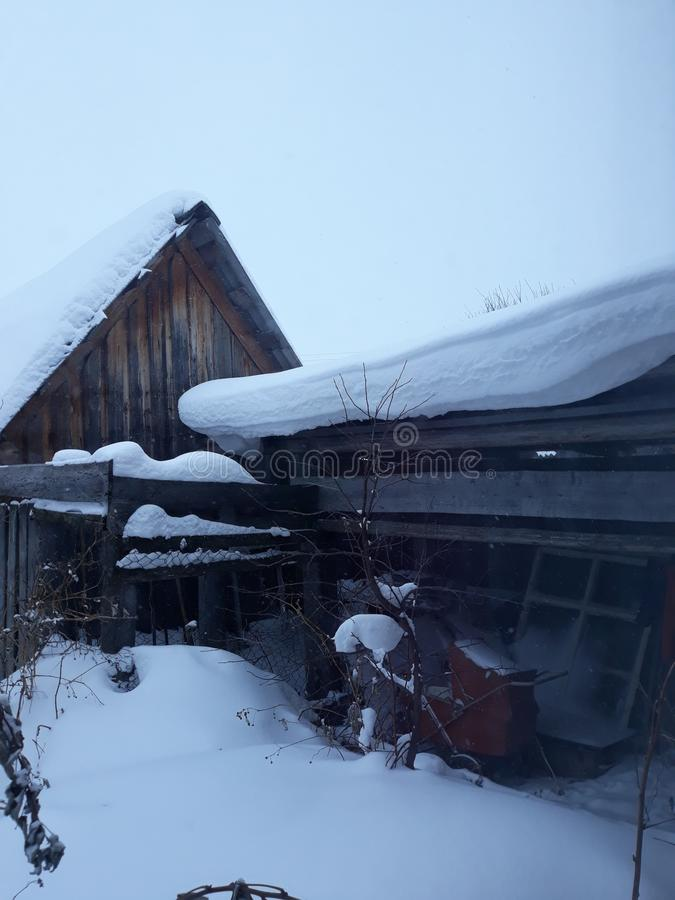 Winter landscape. Siberia. royalty free stock photo
