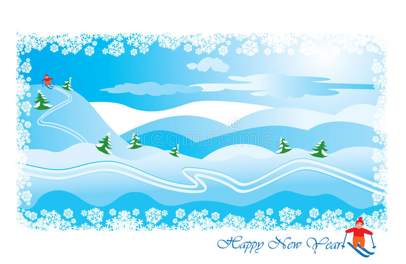 Download Winter Landscape With Skier Stock Vector - Image: 21995749