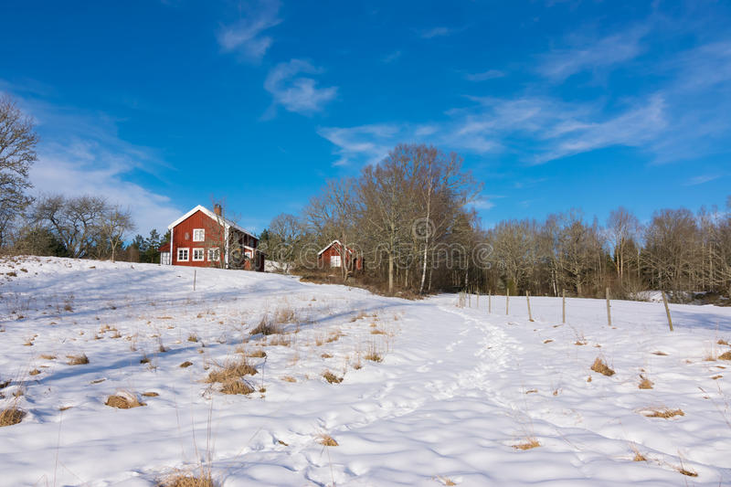 Download Winter Landscape In Sweden Stock Photo Image Of Idyllic