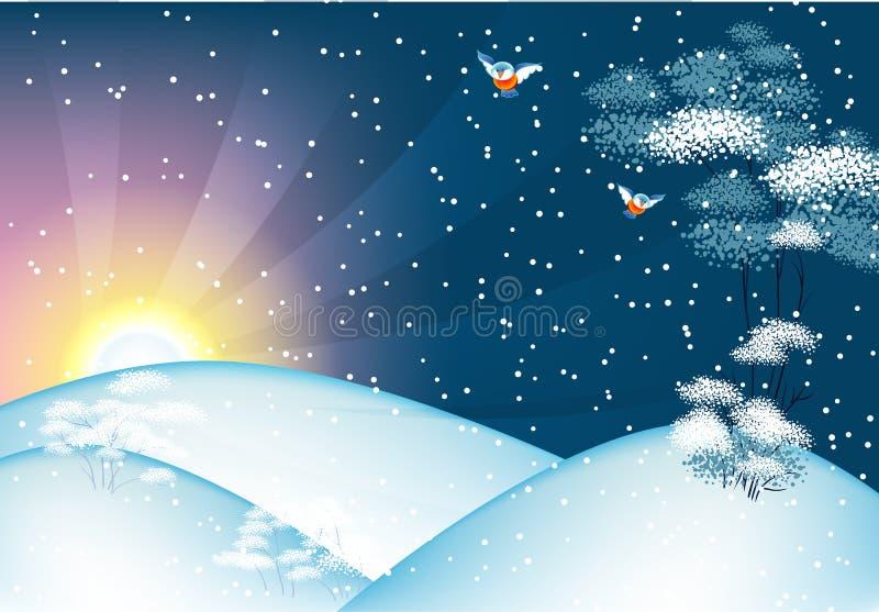 Winter landscape. Vector illustration of Winter landscape vector illustration