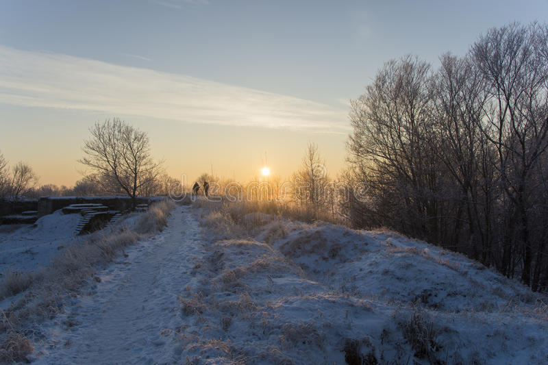Winter landscape. In the vicinity Piterburg royalty free stock photos