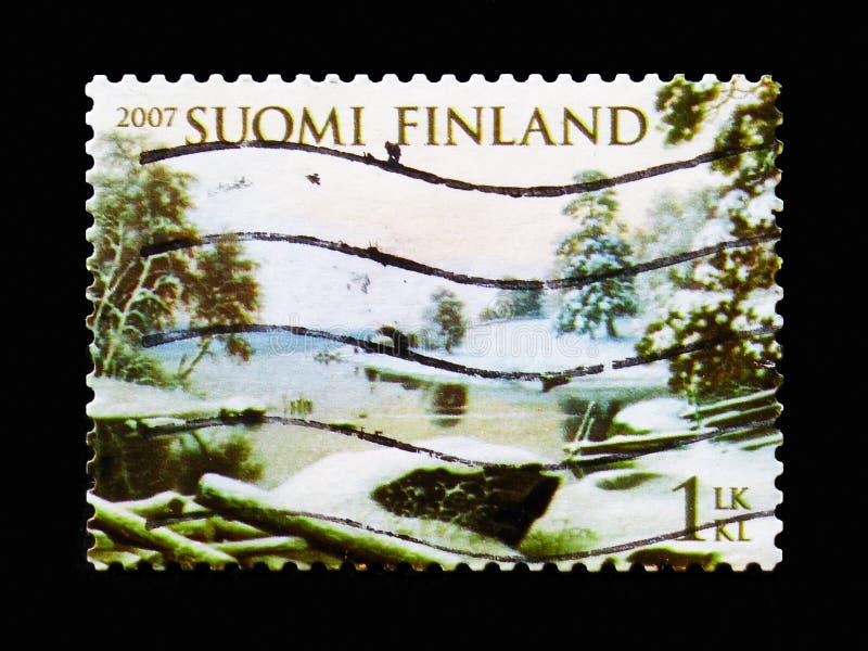 "Winter-Landschaft-†""Haminalahti, Meteorologie serie, circa 2007 stockbilder"