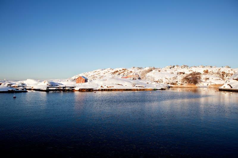 Winter-Landschaft Norwegen stockfotografie