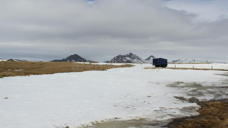 Winter-Landschaften beruhigen und Klumpen lizenzfreie stockfotografie