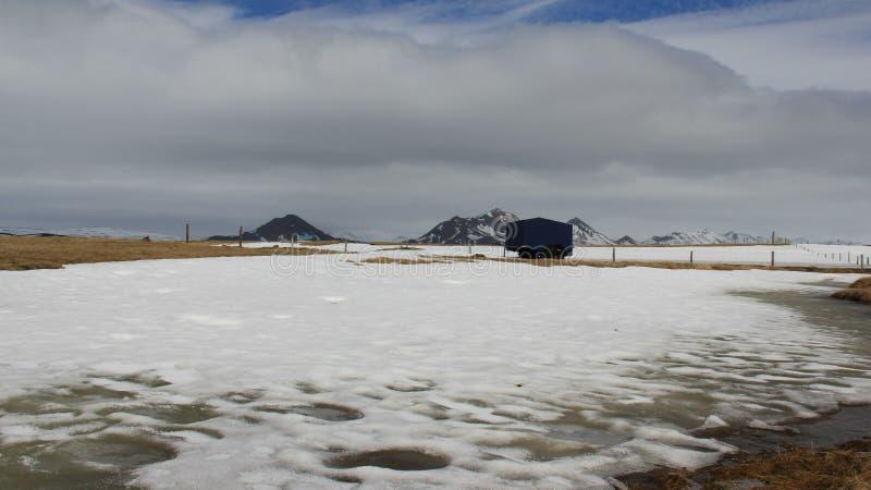 Winter-Landschaften in Island stockbilder