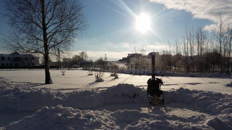 Winter Latvia stock photography