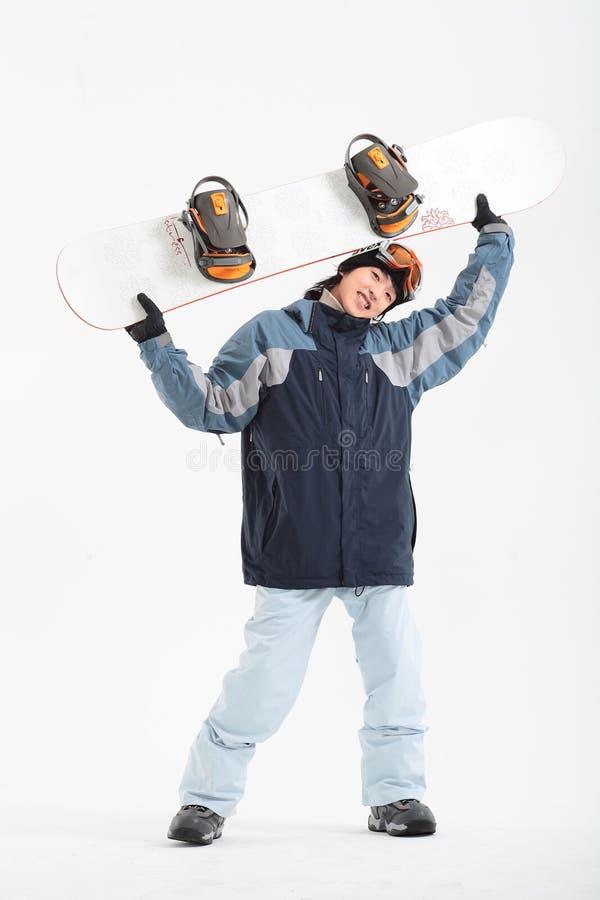Winter Leiasure des Mannes stockfoto