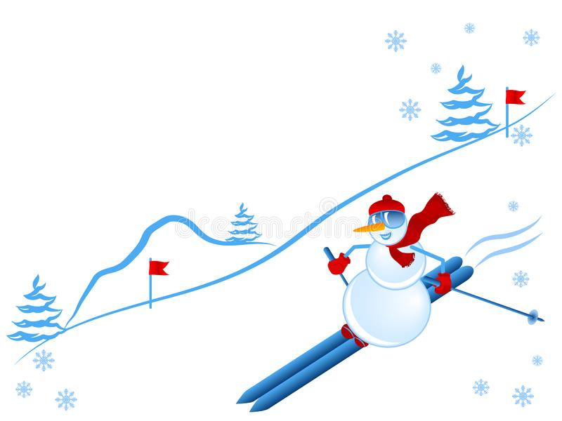 Download Winter leisure stock vector. Image of winter, snow, snowflake - 7872752