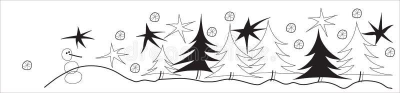 Winter line stock image