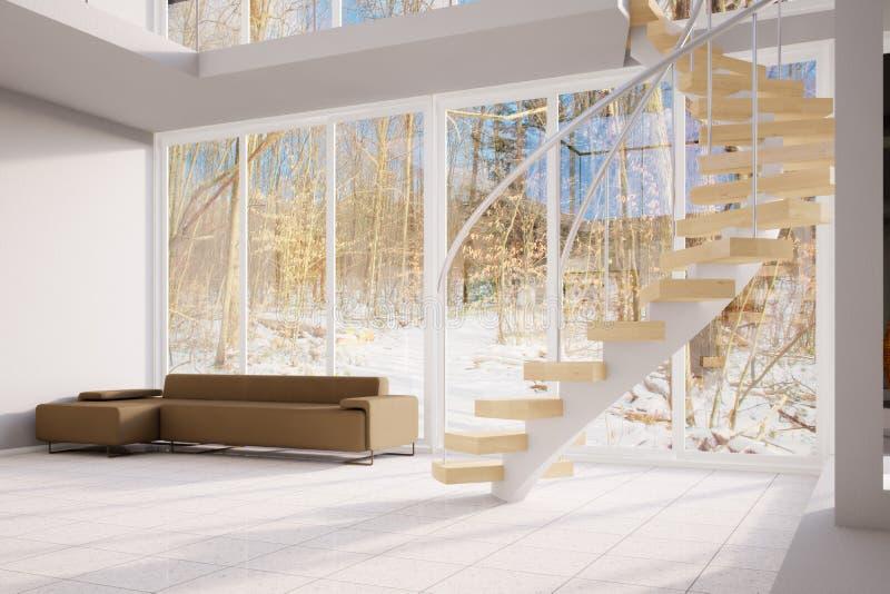 Download Winter Loft stock illustration. Illustration of residence - 28936122