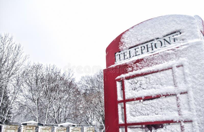 Winter in London stockbilder