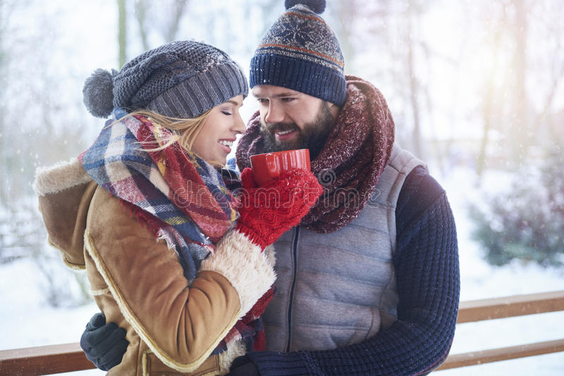 Winter love royalty free stock image
