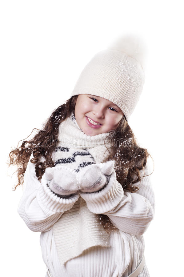 Winter-Mädchen stockfotografie