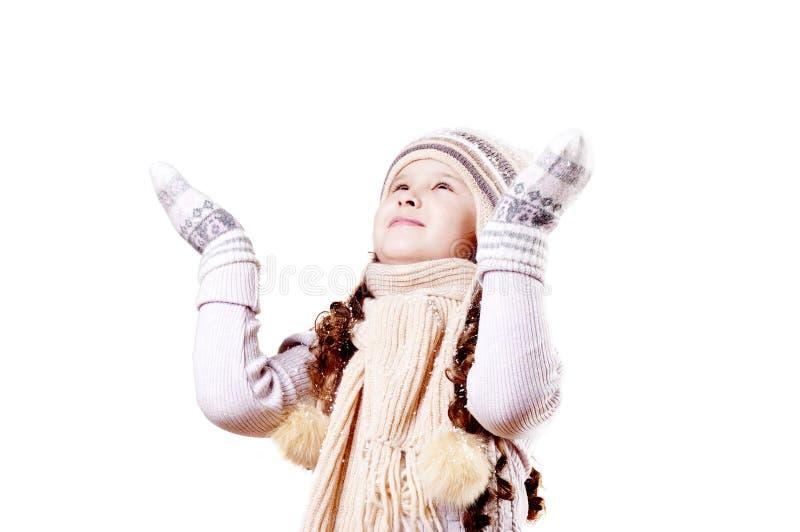 Winter-Mädchen lizenzfreies stockfoto
