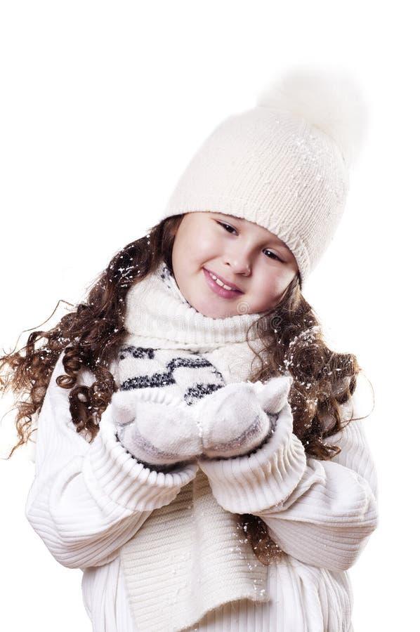 Winter-Mädchen lizenzfreies stockbild