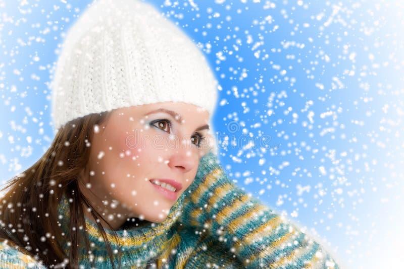 Winter-Mädchen lizenzfreie stockbilder