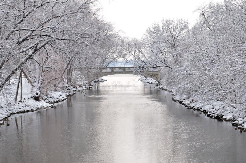 Winter in Madison, Wisconsin lizenzfreies stockbild