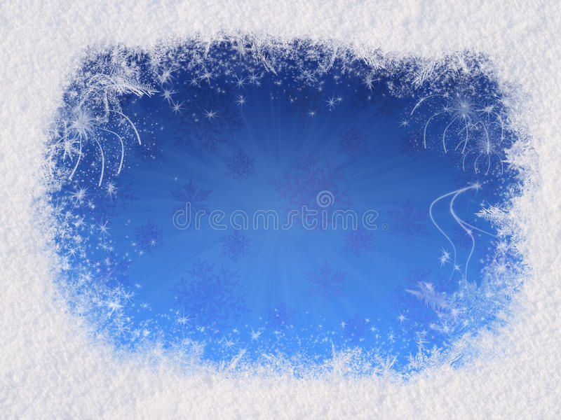 Winter magic frame stock image. Image of frost, blue - 12171929
