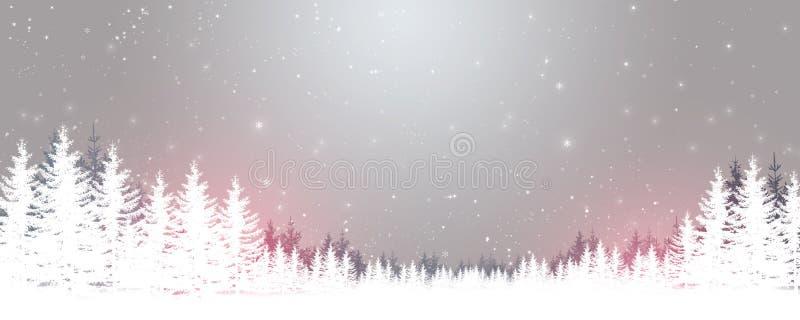 Winter-Magie-Wald lizenzfreie abbildung