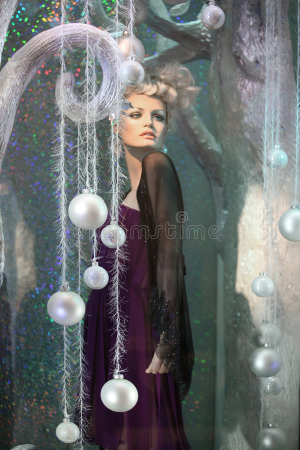 Winter mannequin stock photo