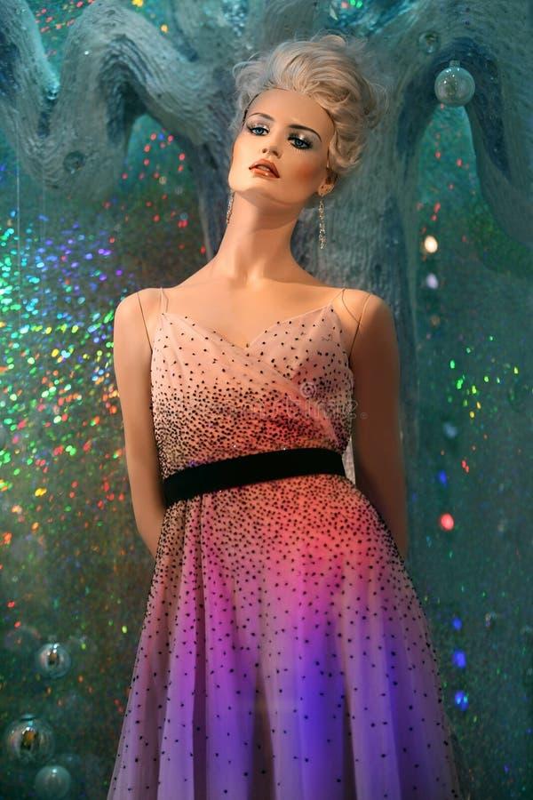 Winter mannequin stock image
